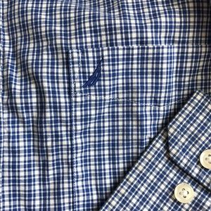 Nautica Shirts - Nautica Blue Plaid Button Down